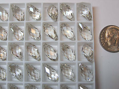 72 Pieces Swarovski Pendants/beads #6010 13X6.5Mm Crystal Silver Shade