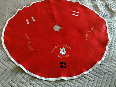 "Westie West Highland White Terrier Christmas Tree Skirt 36"" Puppy"