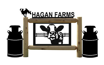 Holstein Cow Sign - Milkcans-Dairy Farms & Ranch Country