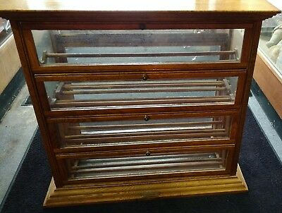 Vintage Oak Store Ribbon Cabinet A N Russell & Sons No Reserve!