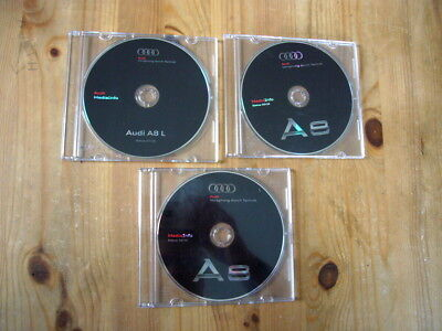 Audi A8 press issue photo CDs x 3 in cases, 2010, excellent condition