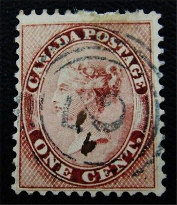 nystamps Canada Stamp # 14 Used UN$125 VF