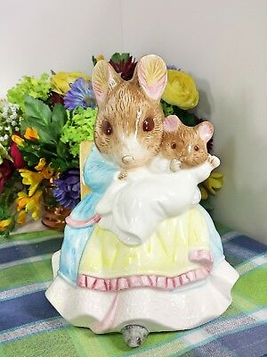 Schmid Beatrix Potter music box Large Hunca and Baby Tale of two bad mice