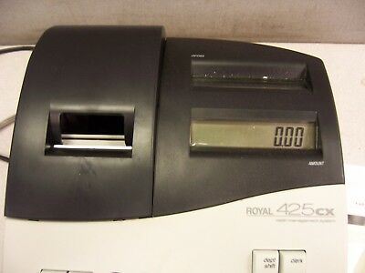 T591    ROYAL 425CX INK ROLLER CASH REGISTER with Key