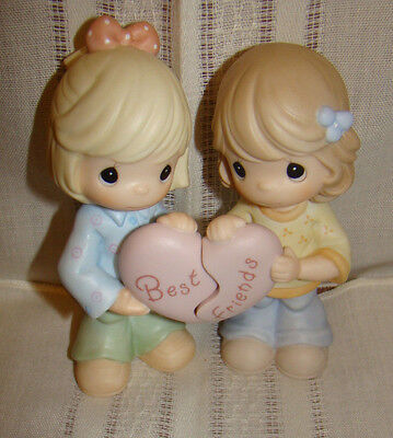 Precious Moments Best Friends Share The Same Heart 2001 2 Pc Set