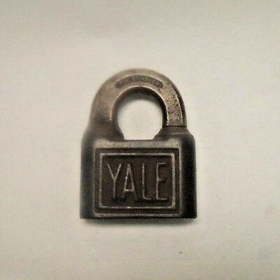 Antique Brass Yale & Towne Mfg Co Padlock Vintage Lock Lever Padlock NO Key