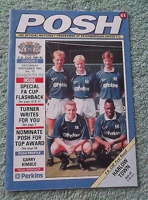 1991/92 Peterborough United v Harlow Town FA Cup First Round