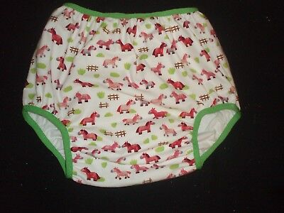 Adult Baby     Horses  Diaper Cover No Vinyl     28/36