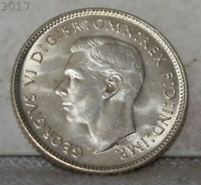 "1943-D Australian *Silver* 6 Pence ""BU"" *Free S/H After 1st Item*"