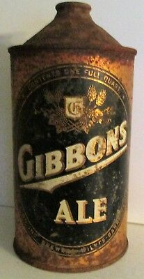 Gibbons Ale The Lion Brewery Inc Wilkes Barre PA  32 oz QUART CONE TOP BEER CAN