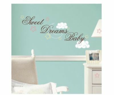 RoomMates Peel and Stick Wall Decals 30 Pcs Sweet Dreams Baby (A12)