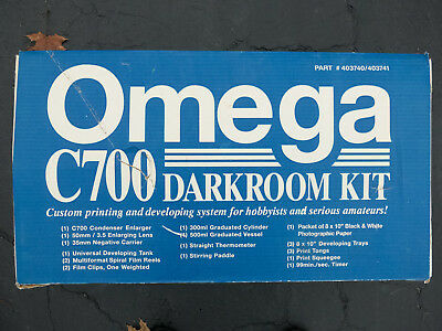 Omega C700 Condenser Enlarger & Film Developing Darkroom Kit