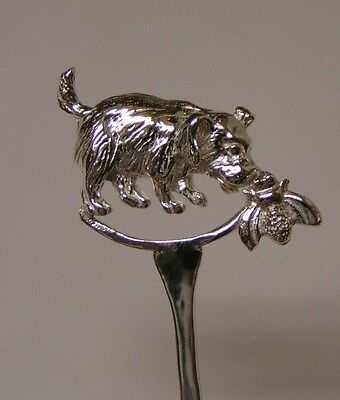 Salt Spoon Sterling Silver ( Dog w/ Bee )