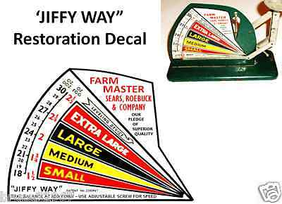 Jiffy Way Antique Egg Scale Restoration  Decal Farm Master Style