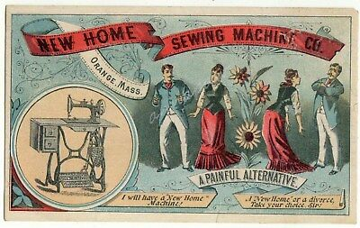 New Home Sewing Machine Divorce Antique Victorian Trade Card Decker Cortland NY