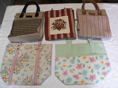 Lot 5 Longaberger Purses Totes Unused Spring Country Holiday