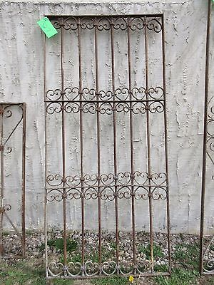 Antique Victorian Iron Gate Window Garden Fence Architectural Salvage Door #327