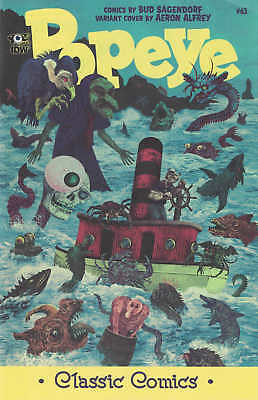 Popeye Classics #63 1:10 Aeron Alfrey Variant Cover IDW ongoing