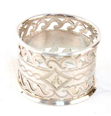 Sterling 1902 Reticulated English Napkin Ring Mono A