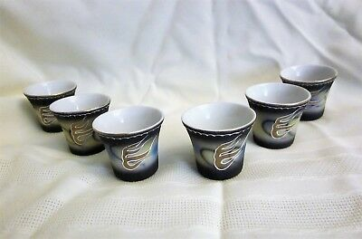 Set of Six Matching Dragonware Moriage Sake Cups - VGUC
