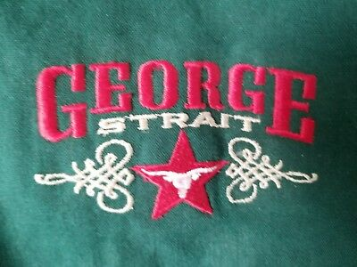 George Strait Embroidered Country Music Festival Jacket Coat Size XL USA Made