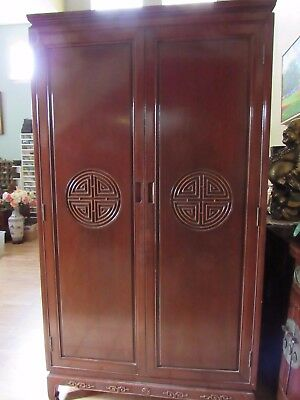 Beautiful Vintage Chinese Solid Wood Cabinet