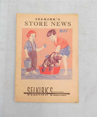 Vintage Cobleskill,NY Selkirk's Hardware Store Advertising 1950s News Magazine