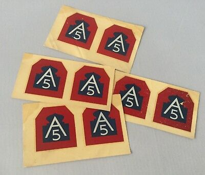 8 Rare Vintage Wwii Us Army 5Th A 5 Wwii United States 5Th Army Stickers