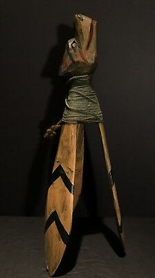SIMON CHARLIE (1920-2005),Sea Wolf Cod Lure,Carved & Painted Wood,Mid 20th C,Exc