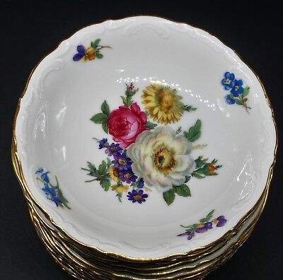 Meissen Floral by Mitterteich Germany Set of 12 Berry Bowls - Excellent