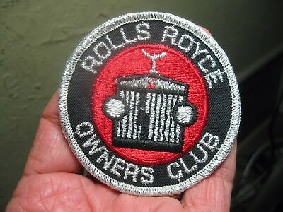 """ROLLS ROYCE automobile OWNERS CLUB 3"""" Silver Red & Black Cloth PATCH"""