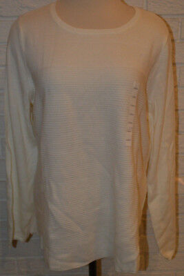 17f6379237 Women s Croft   Barrow Pristine Cream Long Sleeve Sweater Top Size Large