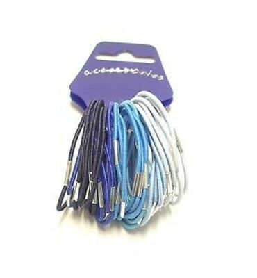 pack of 36 blue tone elastics hair ties –hair accessories