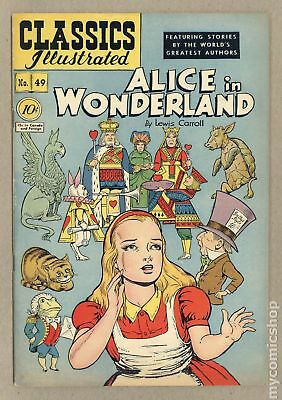 Classics Illustrated 049 Alice in Wonderland #1 1948 VG/FN 5.0