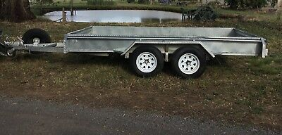 Heavy Duty Galvanized Tandem Trailer 12ft x 6ft