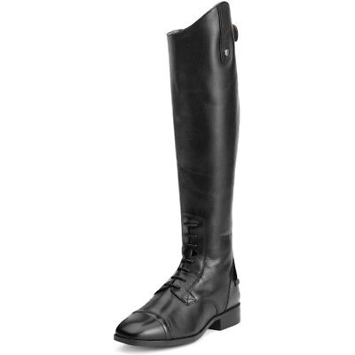 Ariat Challenge Contour Square Toe Field Zip Womens Boots Long Riding - Black