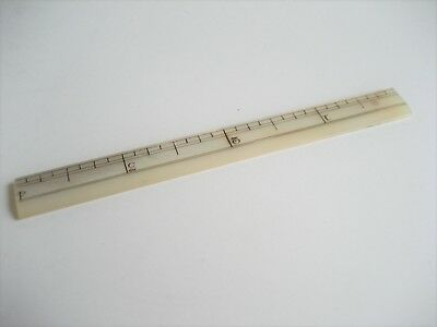 Antique Mother of Pearl Rule or Ruler 4 Inches Long