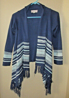 Pink Republic Girls Large Size 14 Open Front Blue Sweater      (***)