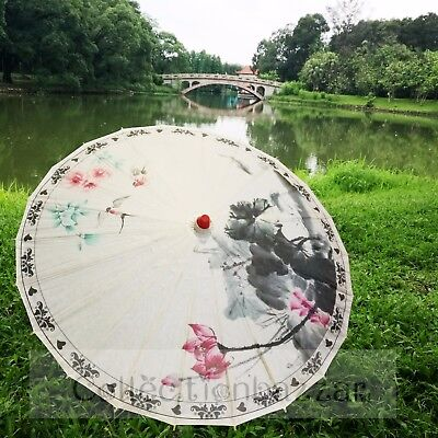 Chinese Parasol Paper Umbrella For Wedding Party Decoration / Art Display D