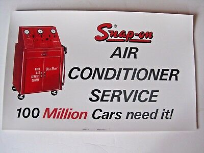 Vintage Snap - On Tool Mechanic's Air Conditioner Service Advertising Sign