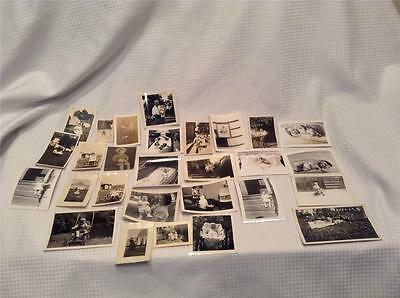 Antique Early 1900s Original 28 PC Black And White Baby Infant photograph Lot