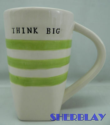 "THINK BIG Magenta Exclusive Coffee Cup Mug 5 1/4"" High"