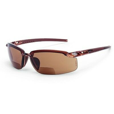 Crossfire Safety Glasses ES5 2911725 Bifocal 2.5x HD Brown Lens Sunglasses