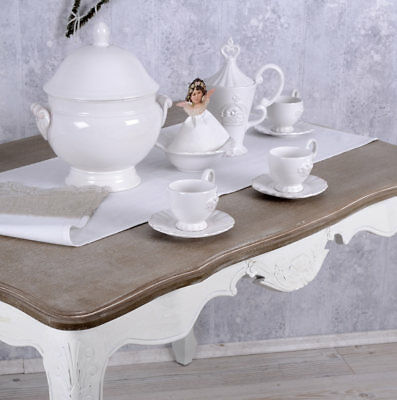 kaffeeservice 6 personen shabby chic krone geschirr weiss teeservice porzellan eur 69 99. Black Bedroom Furniture Sets. Home Design Ideas