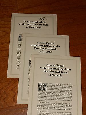 Three Annual Reports, 1927, 1928, 1929, First National Bank In St. Louis