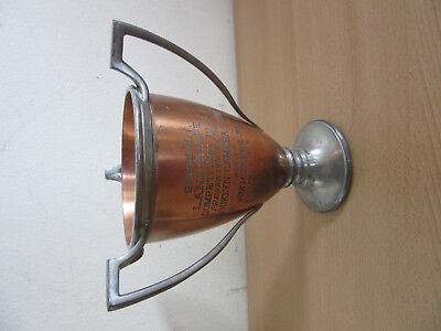 Antique Copper & Pewter Brooklyn Camera Club Trophy Cup 1904 Landscape
