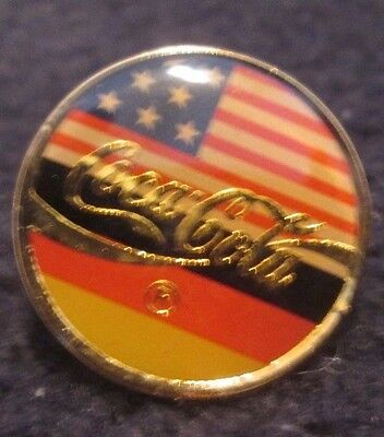 """Coca Cola United States & Germany Flag Pin - .75"""""""
