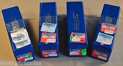 Lot of 4 Used Blue PCGS Slab Storage Boxes - Each Box holds 20 Slabbed Coins