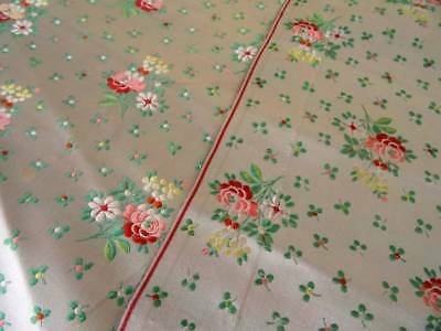 Two Beautiful 19th Century French Lyon Silk Brocade Rose Sprig Panels