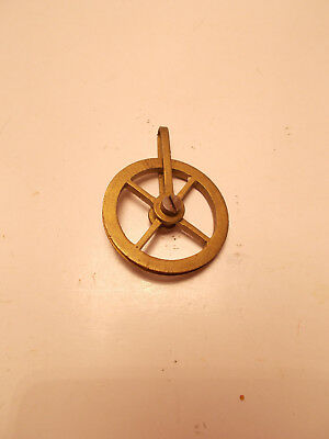 Antique Vienna Clock Regulator Brass Pulley Weight Driven
